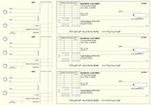 Yellow Knit Standard Itemized Invoice Business Checks