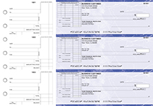 Blue Marble Standard Itemized Invoice Business Checks