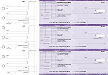 Purple Marble Standard Itemized Invoice Business Checks