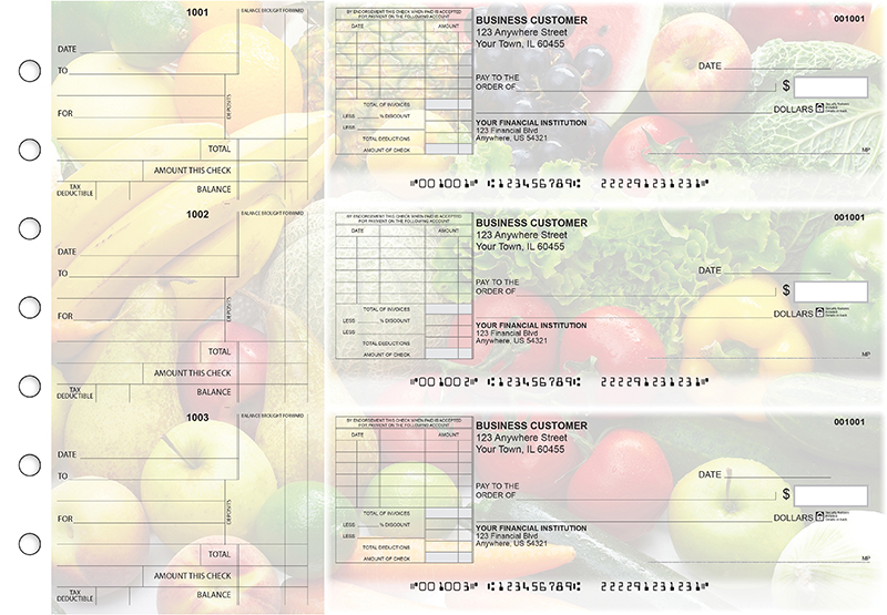 Fresh Produce Standard Itemized Invoice Business Checks