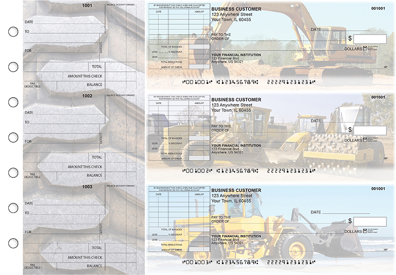 Construction Standard Itemized Invoice Business Checks