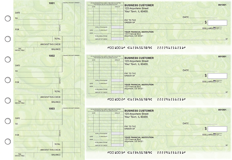 Leaf Standard Itemized Invoice Business Checks