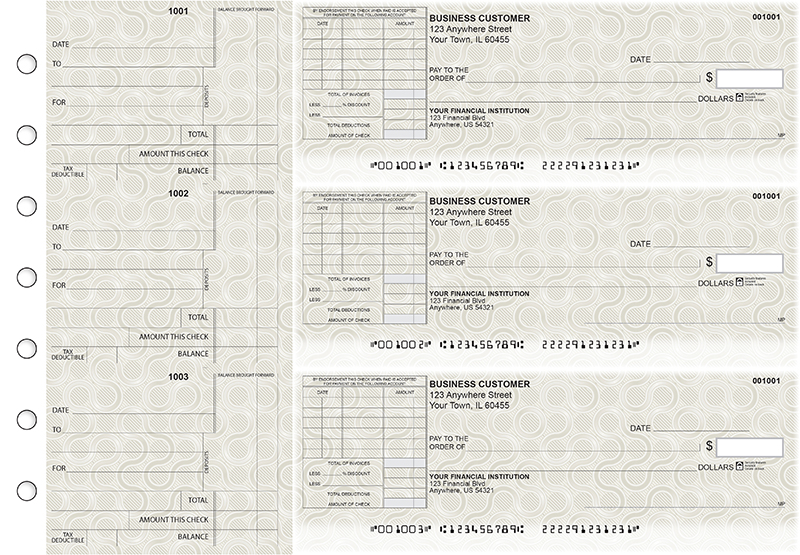 Circuit Standard Itemized Invoice Business Checks