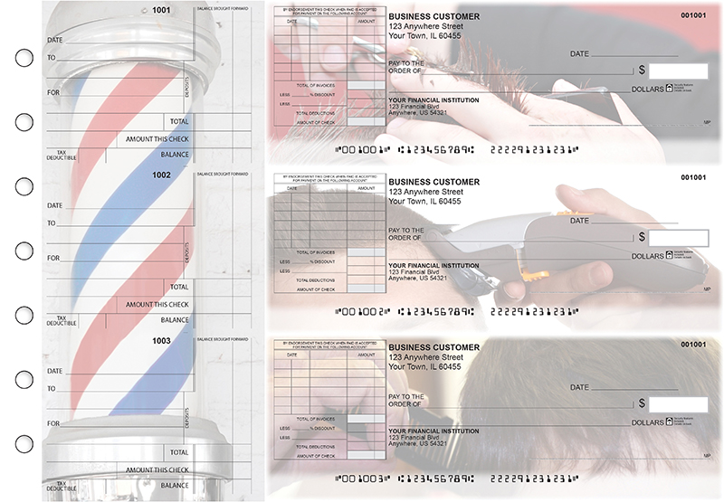 Barber Standard Itemized Invoice Business Checks
