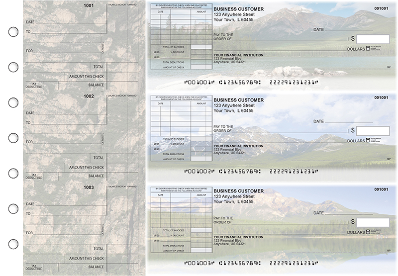 Scenic Mountains Standard Itemized Invoice Business Checks