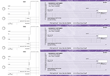 Purple Marble Itemized Counter Signature Business Checks