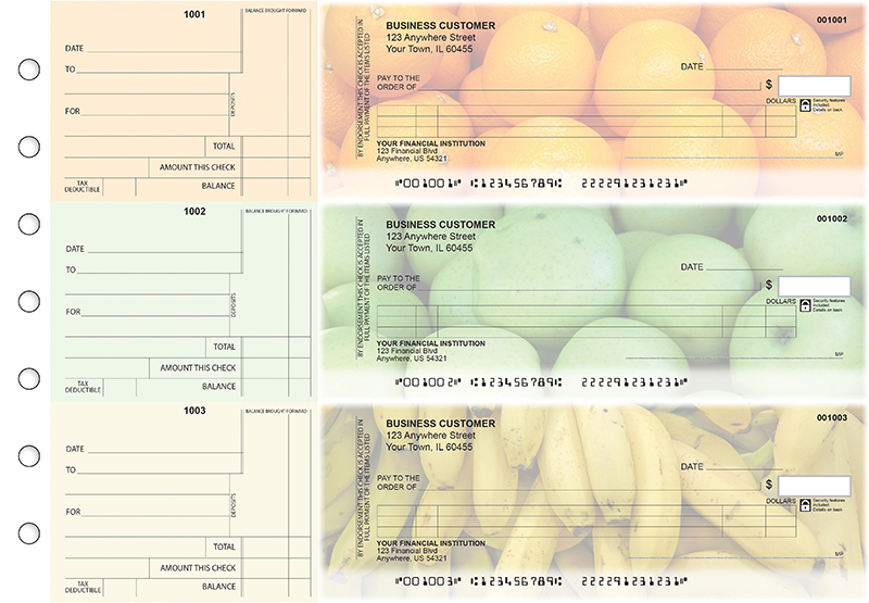 Fruit Itemized Counter Signature Business Checks