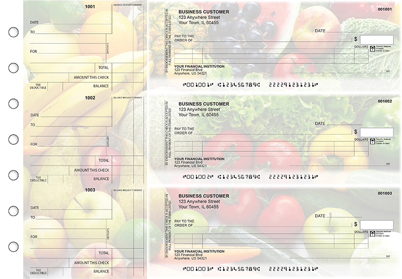 Fresh Produce Itemized Counter Signature Business Checks