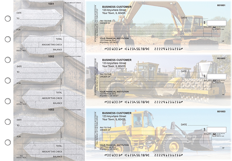Construction Itemized Counter Signature Business Checks