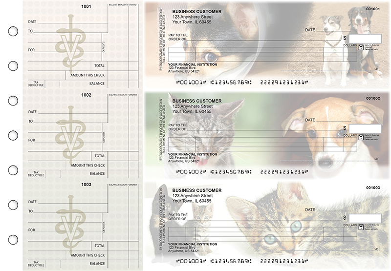 Veterinarian Itemized Counter Signature Business Checks