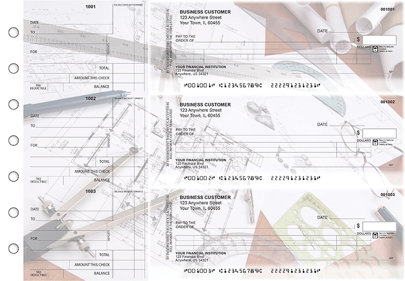 Architect Itemized Counter Signature Business Checks