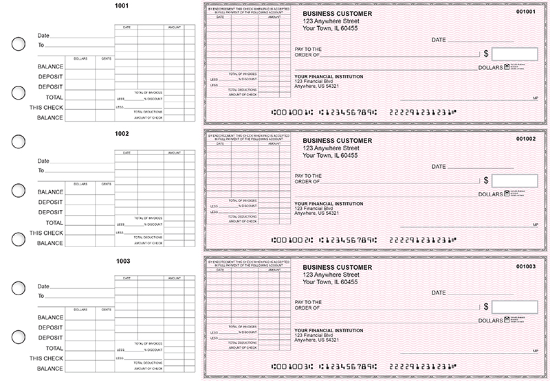 Pink Safety General Itemized Invoice Business Checks