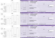 Purple Marble General Itemized Invoice Business Checks