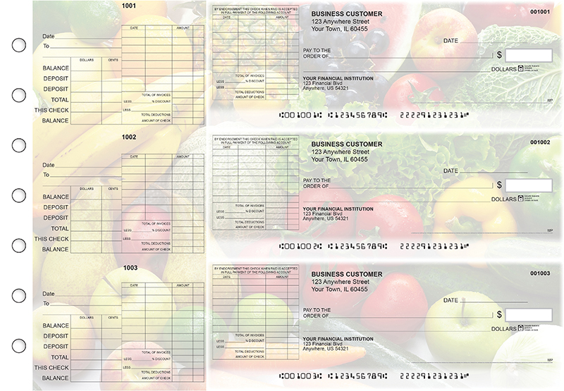 Fresh Produce General Itemized Invoice Business Checks