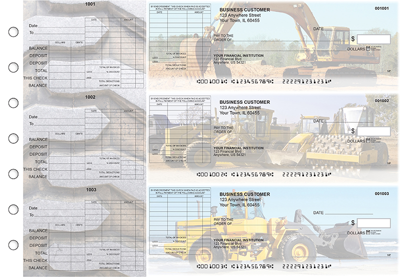 Construction General Itemized Invoice Business Checks