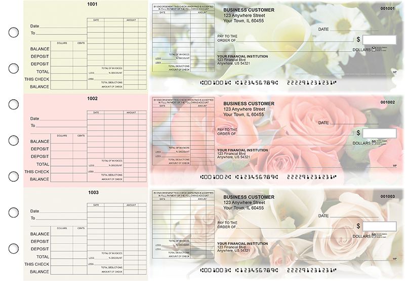 Florist General Itemized Invoice Business Checks