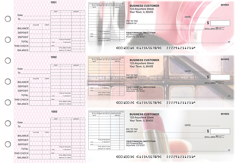 Makeup General Itemized Invoice Business Checks
