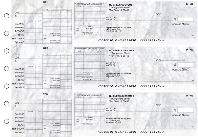 Marble General Itemized Invoice Business Checks