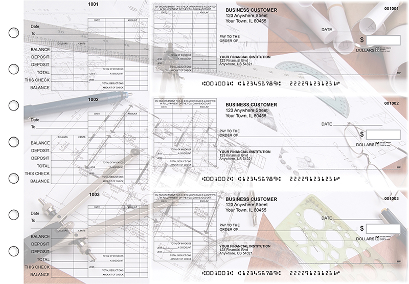 Architect General Itemized Invoice Business Checks