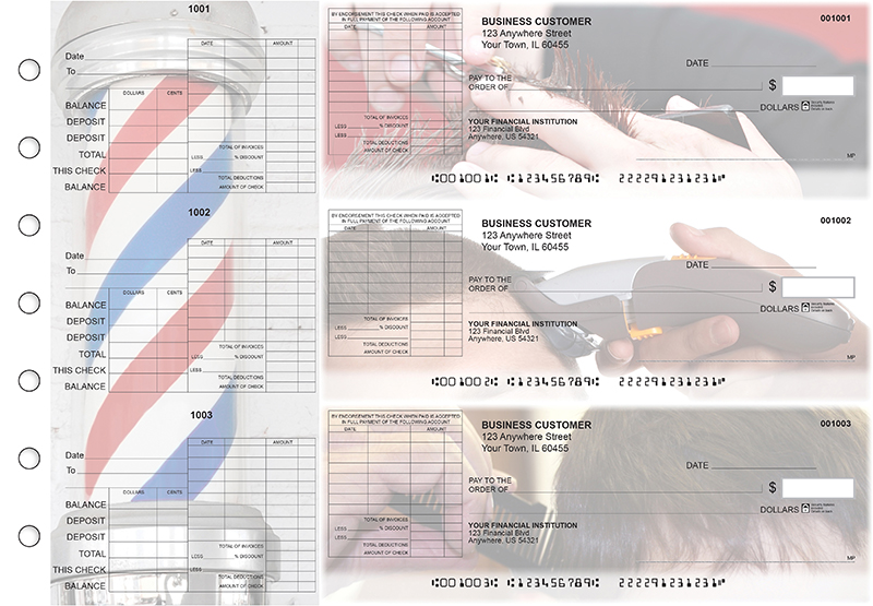 Barber General Itemized Invoice Business Checks