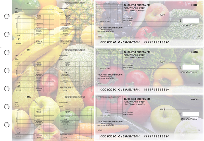 Fresh Produce Multi-Purpose Corner Voucher Business Checks