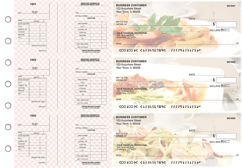 Italian Cuisine Multi-Purpose Salary Voucher Business Checks