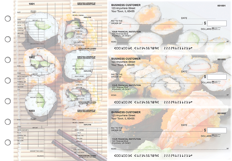 Japanese Cuisine Multi-Purpose Salary Voucher Business Checks