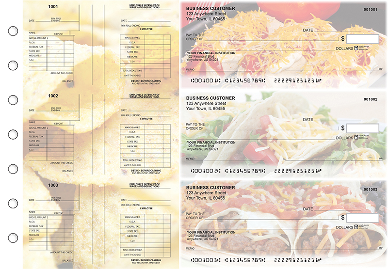Mexican Cuisine Multi-Purpose Salary Voucher Business Checks