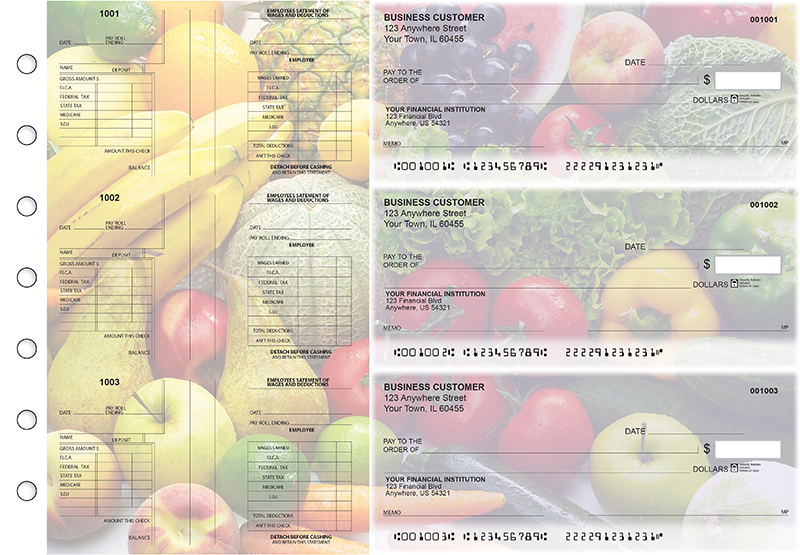 Fresh Produce Multi-Purpose Salary Voucher Business Checks