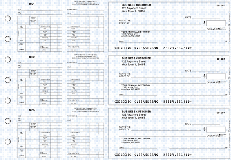 Blue Knit Multi-Purpose Counter Signature Business Checks