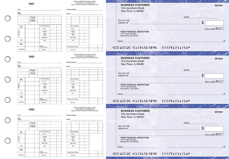 Blue Marble Multi-Purpose Counter Signature Business Checks