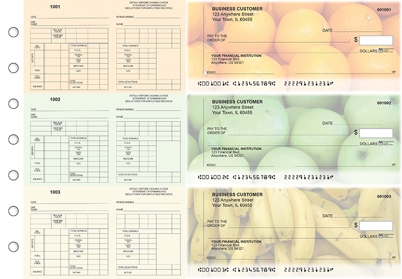 Fruit Multi-Purpose Counter Signature Business Checks