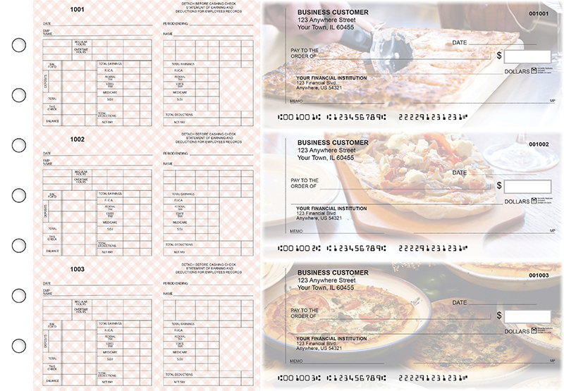 Pizza Multi-Purpose Counter Signature Business Checks