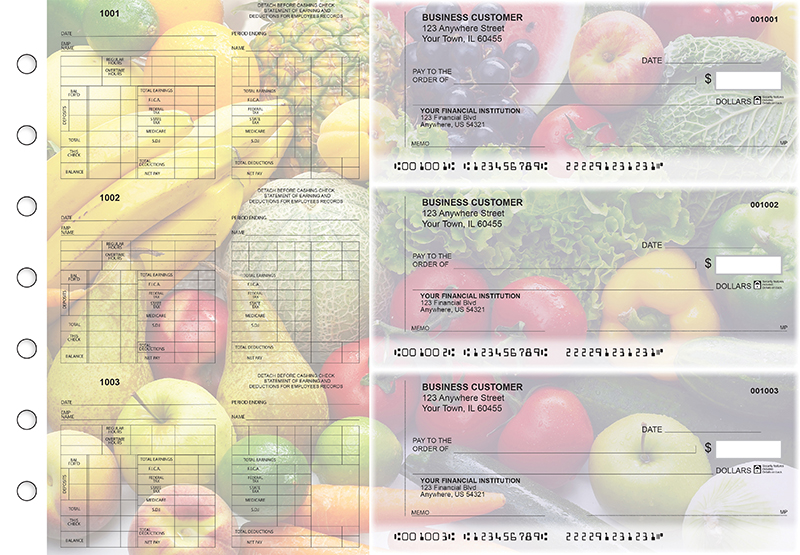 Fresh Produce Multi-Purpose Counter Signature Business Checks