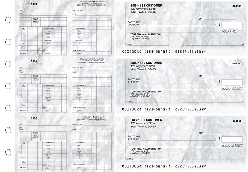 Marble Multi-Purpose Counter Signature Business Checks