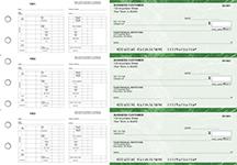 Green Marble Multi-Purpose Hourly Voucher Business Checks