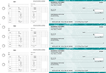 Teal Marble Multi-Purpose Hourly Voucher Business Checks