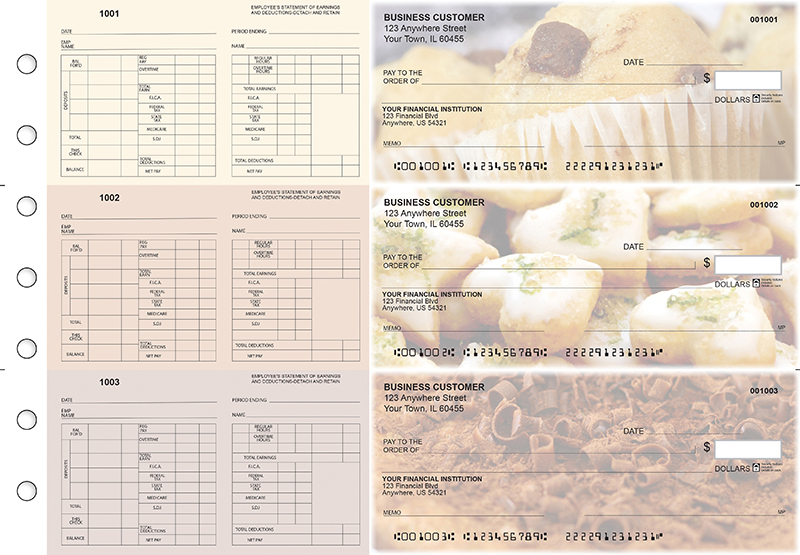 Bakery Multi-Purpose Hourly Voucher Business Checks