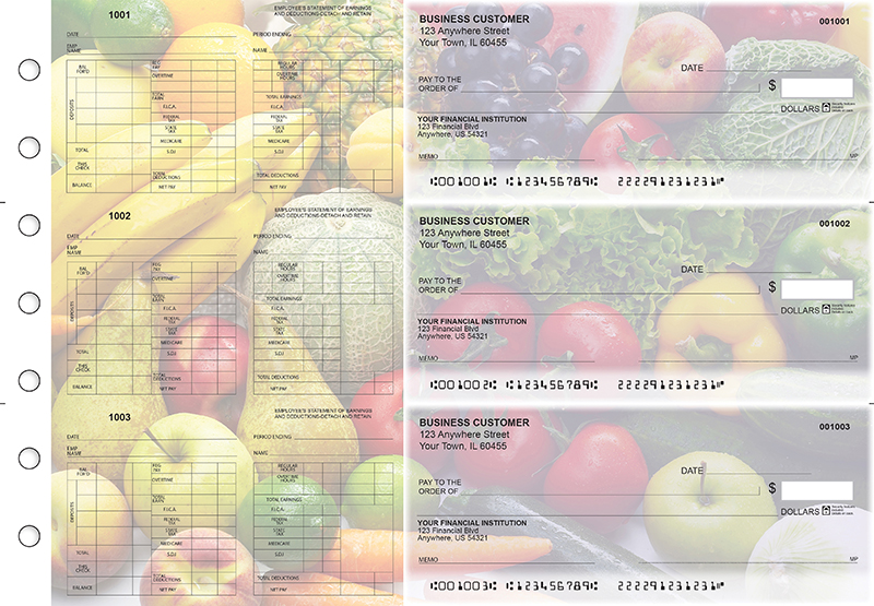 Fresh Produce Multi-Purpose Hourly Voucher Business Checks