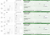 Green Marble Dual Purpose Voucher Business Checks