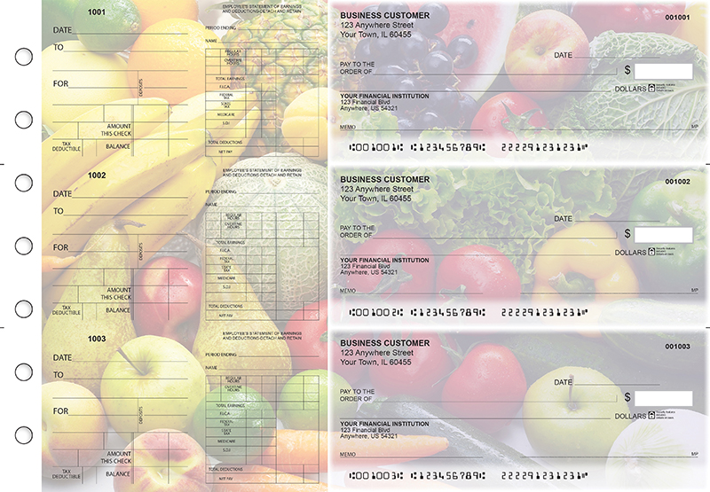 Fresh Produce Dual Purpose Voucher Business Checks