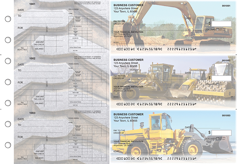 Construction Dual Purpose Voucher Business Checks