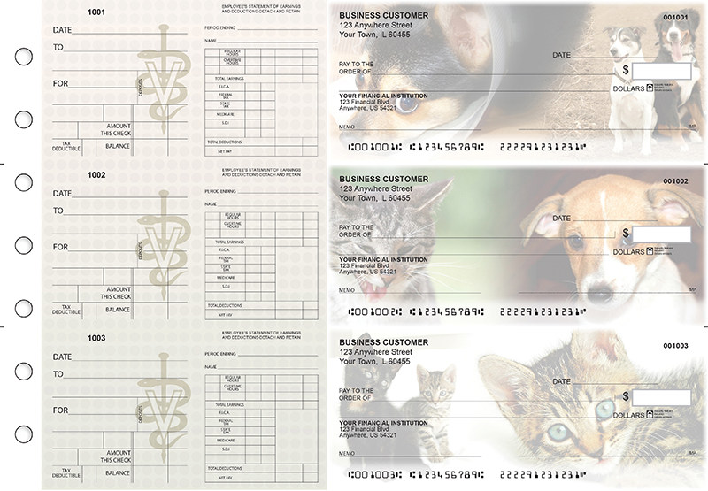 Veterinarian Dual Purpose Voucher Business Checks