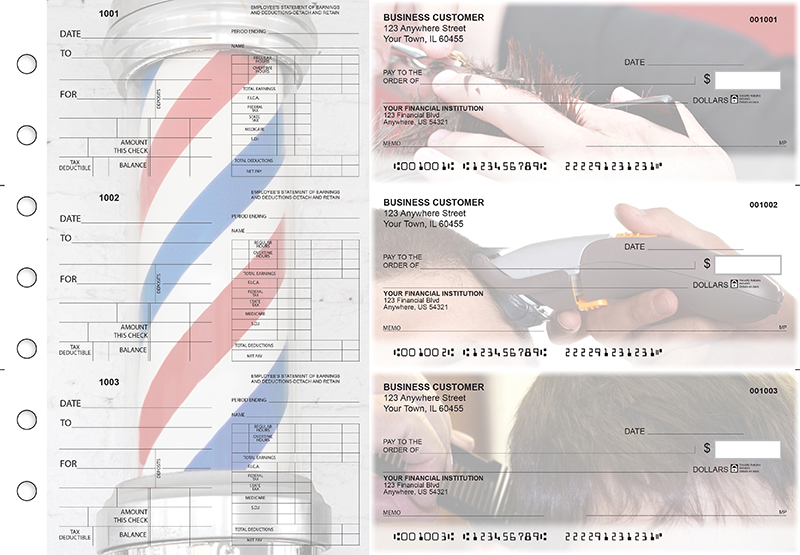 Barber Dual Purpose Voucher Business Checks