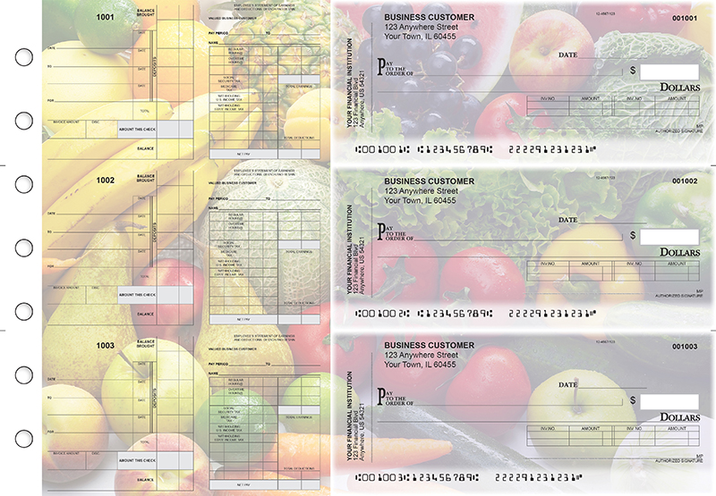 Fresh Produce Payroll Invoice Business Checks