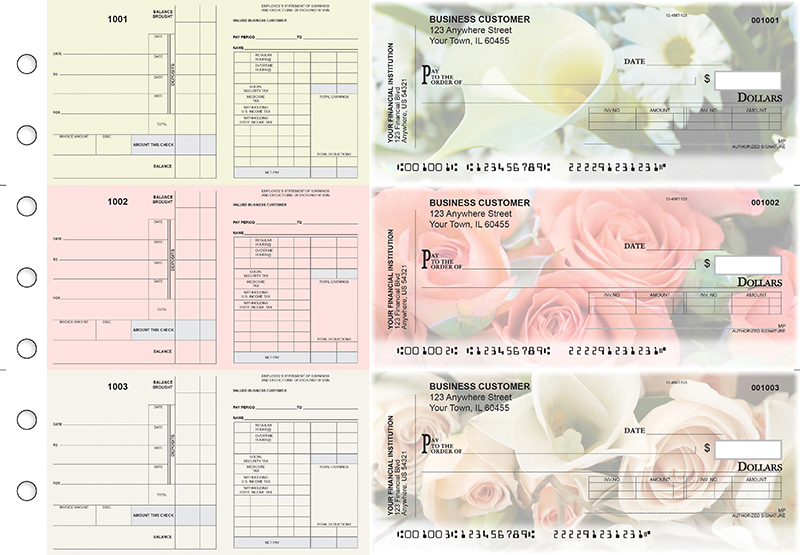 Florist Payroll Invoice Business Checks