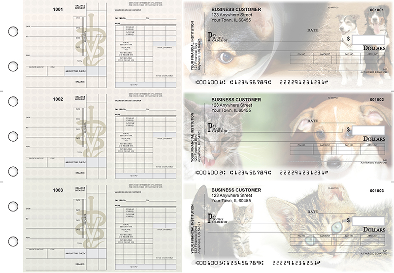 Veterinarian Payroll Invoice Business Checks