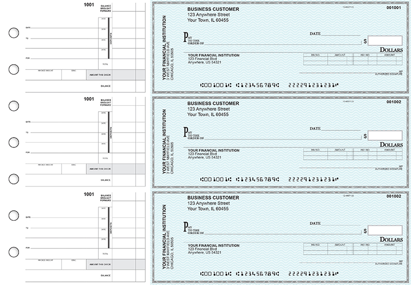 Teal Safety Invoice Business Checks