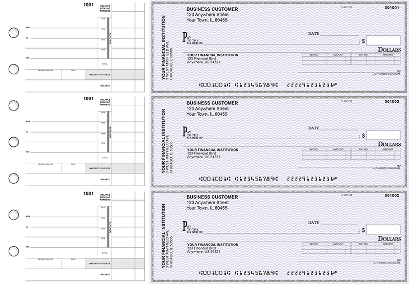 Purple Safety Invoice Business Checks