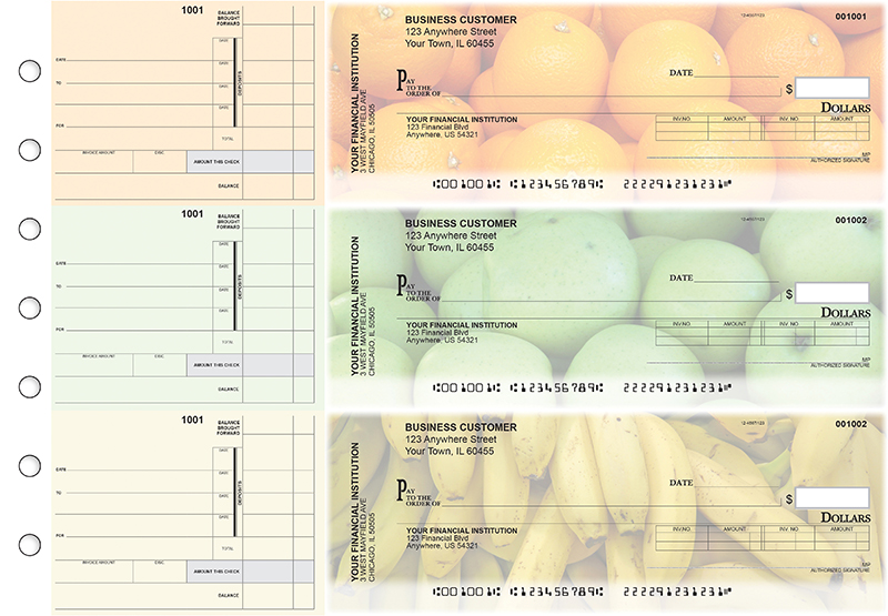 Fruit Invoice Business Checks